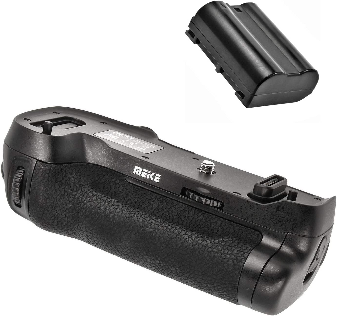 Meike MK-D500 Pro Vertical Battery Grip for Nikon D500 with EN-EL15 Replacement Battery 1600 mAh Including 2.4 GHz Remote Shutter Release with Timer and Interval Function