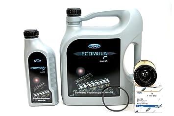 Original Ford Formula F 5 W30 antifricción 14e9ec 6 L + ORIGINAL Ford aceite 1717510 ölwechselkit 2.0 TDCi 2.2 Tdci (Modelos diésel: Amazon.es: Coche y moto