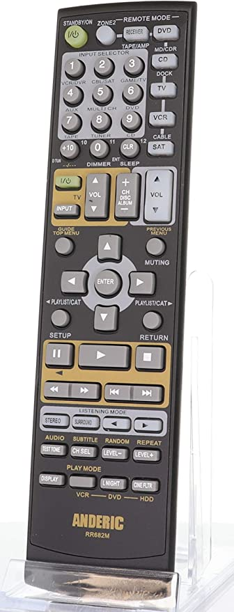 Replacement Remote Control For Onkyo Receivers Anderic Replaces Onkyo Rc 682 M Rc 605s Rc 606s