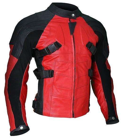 Mens Deadpool Wade Wilson Motorcycle Ryan Reynolds Biker ...