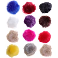 ultnice 12piezas Faux Fur Pom Poms DIY Fluffy