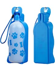 Dog Water Bottle Blue, (22oz) Pet Water Dispenser Drink Bottle for Pets Outdoor Walking, Hiking,Travel and on the Go, BPA Free Plastic