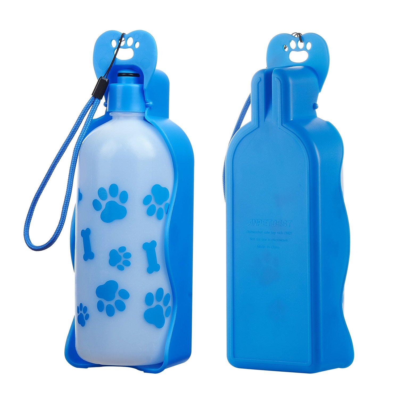 Anpetbest Bouteilles d'eau pour chien, portable pliable, en plastique 311,8g/623,7g Gamelle pour animaux chien chat Voyage