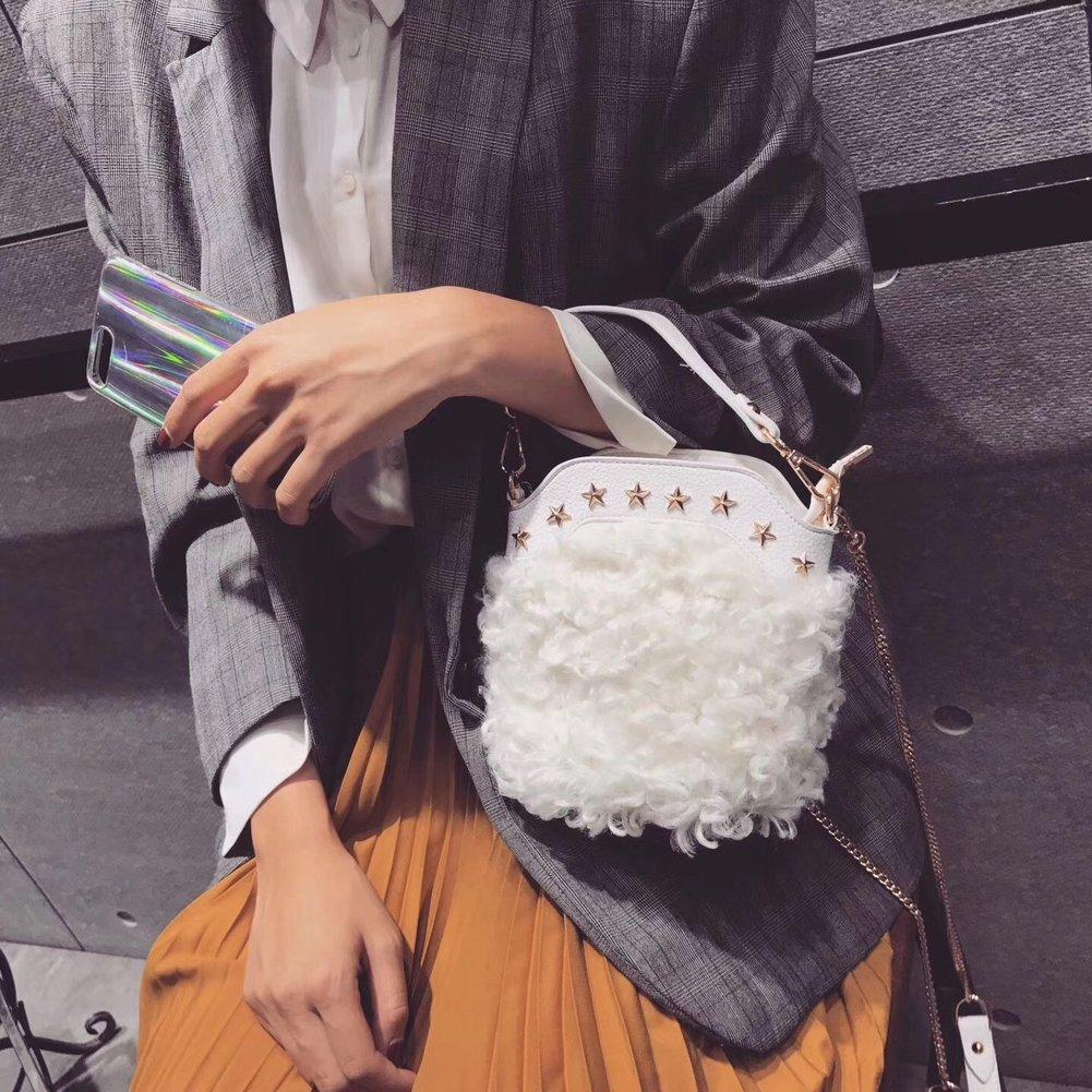 4d5e6d0bdc YTTY Femmina in nylon colore colore colore puro cerniera Tasca singola borsa  a tracolla personalizzata pelliccia pacchetto, bianco 9065ea
