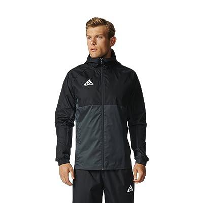 adidas Men's Soccer Tiro 17 Rain Jacket at Men's Clothing store