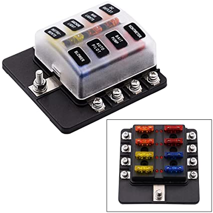 amazon com 8 way fuse box holder with led warning lights 12v fuse Home Fuses for Fuse Box image unavailable