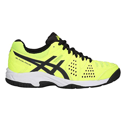 Asics Gel Padel Pro 3 GS Falsh Yellow Black Amarillo Fluor Negro
