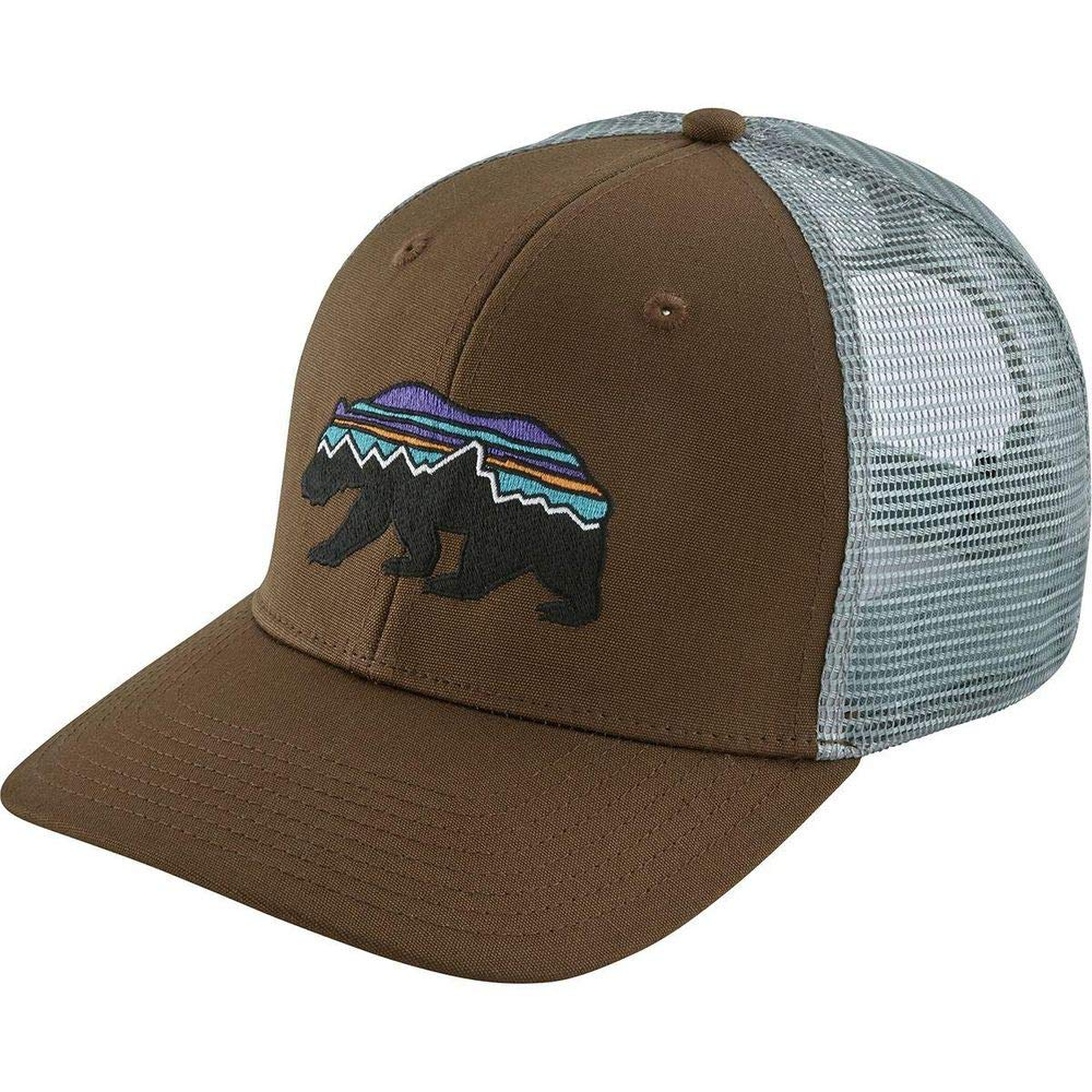 reputable site 5ec28 4f423 Amazon.com  Patagonia Fitz Roy Bear Trucker Mid Crown Adjustable Hat, Forge  Grey (Forge Grey, OS)  Sports   Outdoors