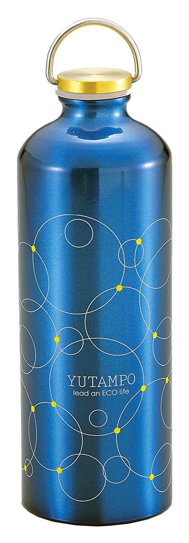 パール金属 アルミ 湯たんぽ ボトル型 900ml ディープブルー リング MK-2215