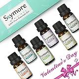 Skymore Olio essenziale Top 6Pcs, San Valentino presente, Umidificatori Aromaterapici naturali dell' --- Lavanda, arancia dolce, menta piperita, lemongrass, albero di tè, eucalipto.