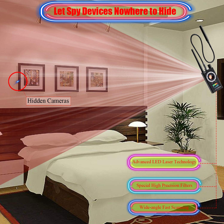 Amazon.com : Bug Detector rf Signal Detector Anti Spy Detector Hidden  Camera Pinhole Laser GSM Device Car GPS Tracker Anti Eavesdropping  Sensitivity ...