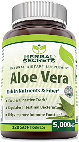 Herbal Secrets Aloe Vera Natural Dietary Supplement