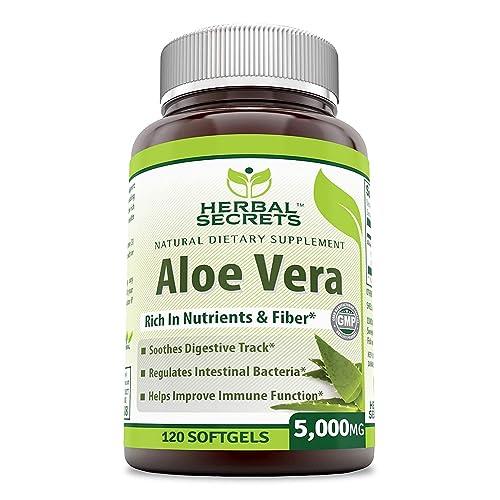 Herbal Secrets Aloe Vera Natural Dietary Supplements