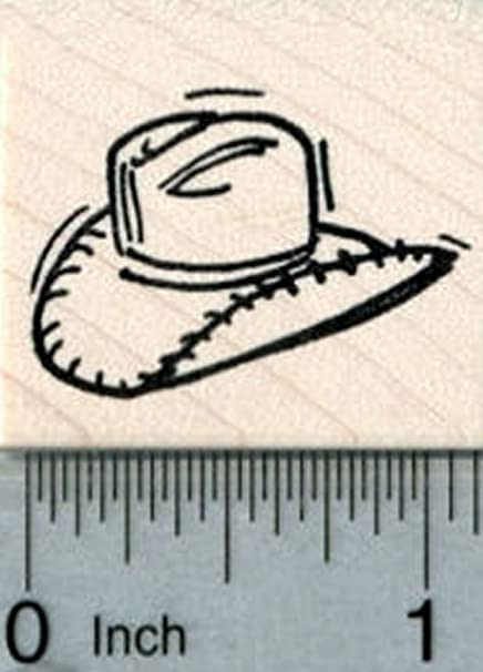 029e85947 Amazon.com: Cowboy Hat Rubber Stamp, Small: Arts, Crafts & Sewing