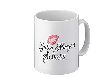 Foto Premio Tasse Mit Spruch Guten Morgen Schatz