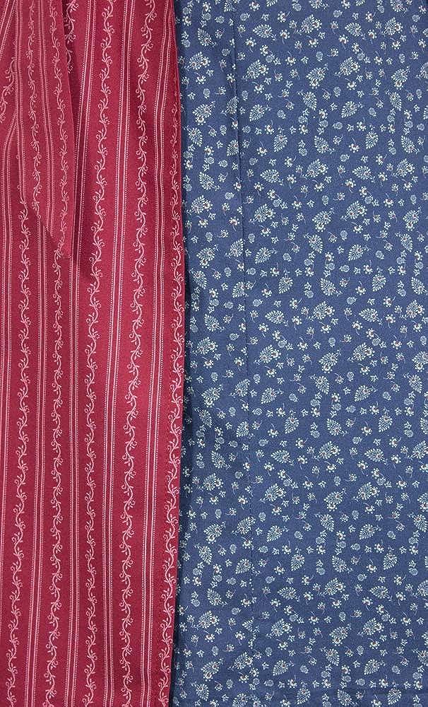 Blau Rot 60cm Hiebaum Damen Dirndl Evelyn K670132 Baumwoll Mididirndl Trachtenkleid Sch/ürze Oktoberfest Kirchweih