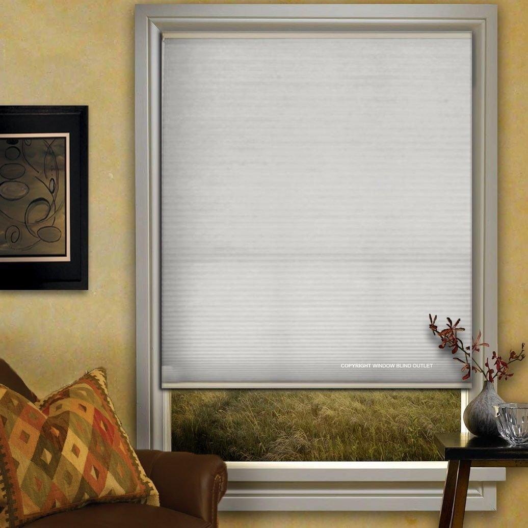Window Blind Store Light Filtering Cordless Cellular Shade Coconut Milk 23x48