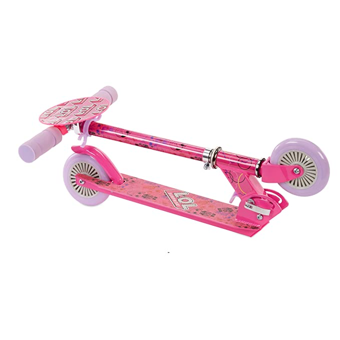 Amazon.com: L.O.L. ¡Sorprenda! Patinete plegable color rosa ...