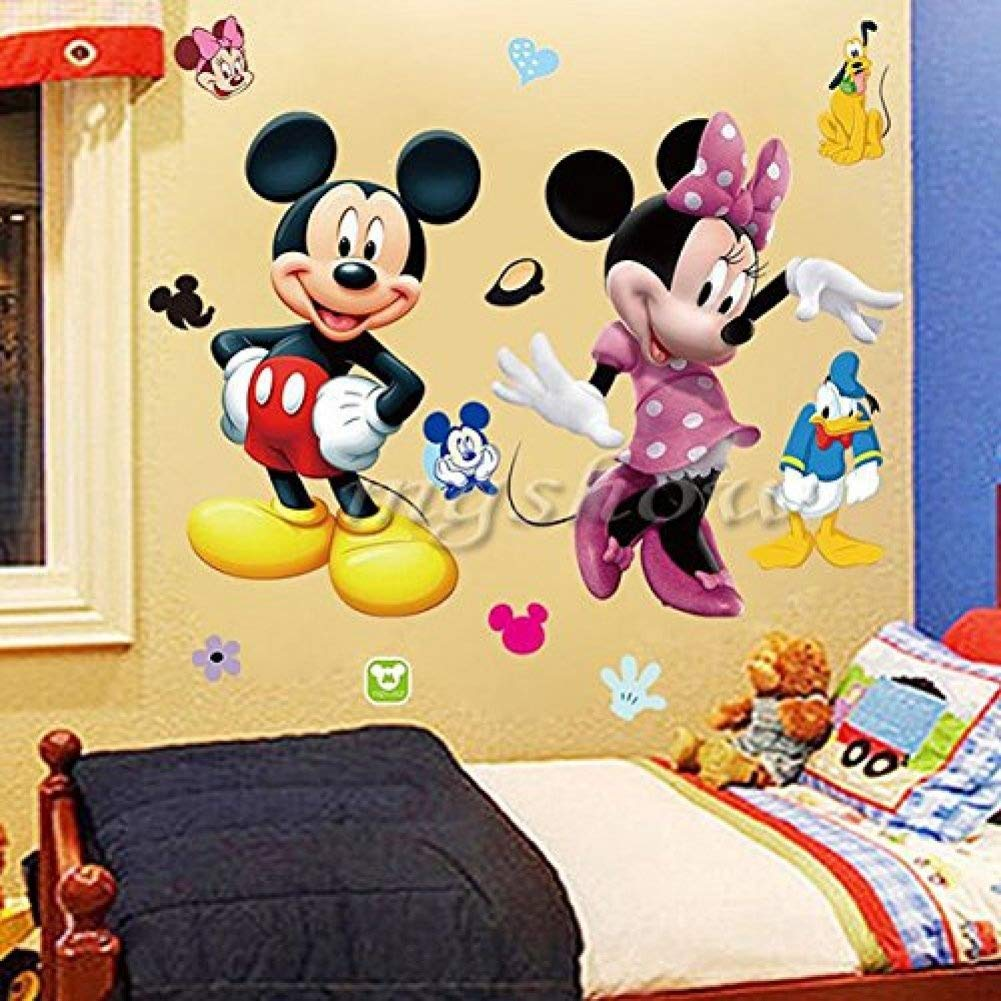 Amazon.com: Wall Sticker Decal Mickey and Minnie Mouse Kids Room ...