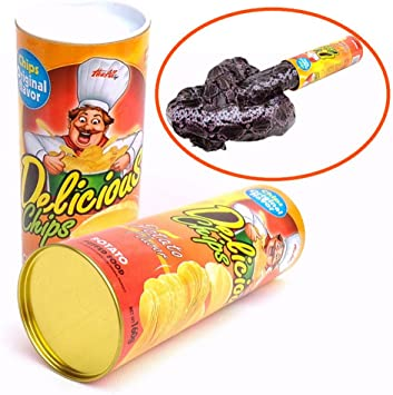 Potato Chip Snake In A Can Gag Gift Prank Scary Shock Birthday Surprise UK