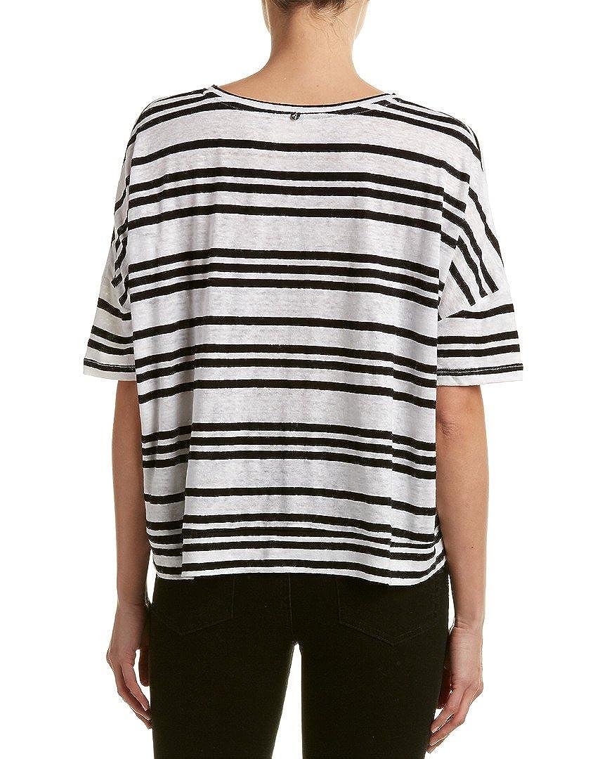 ac0acdd66d0614 Amazon.com: alice + olivia Womens Variegated Stripe Shirt Black/White  Large: Clothing