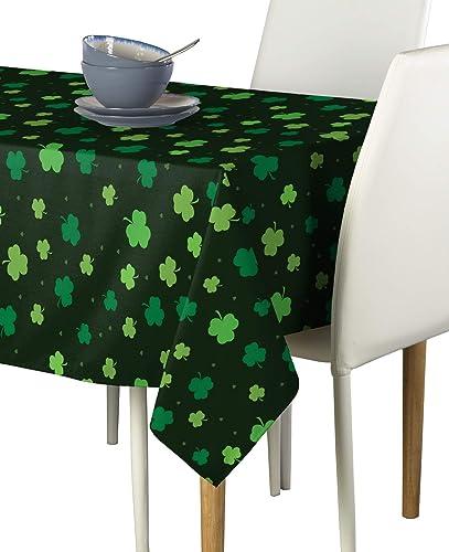 Tossed Shamrocks Black Milliken Signature Tablecloths – Assorted Sizes 60 x120