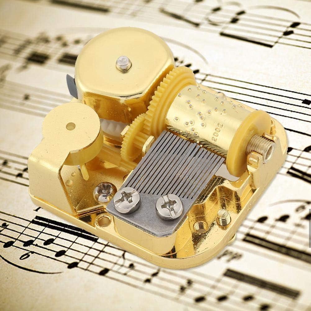 Swan Lake Fditt Gold Plating Music Box Movement DIY Music Box Accessories with Screw Key