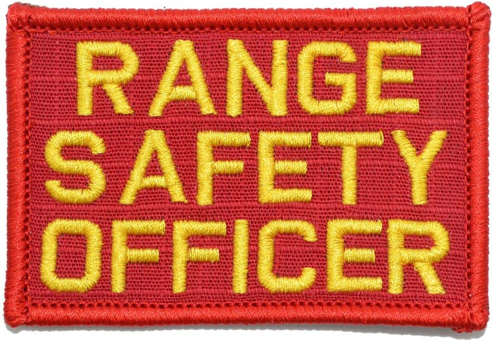 Amazon Com Range Safety Officer 2x3 Patch Red Yellow Arts Crafts Sewing