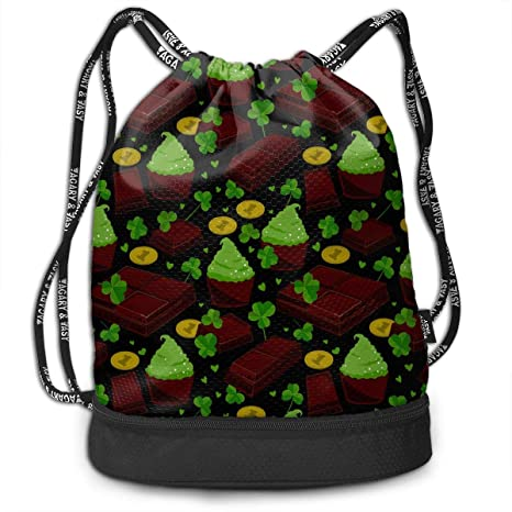 e9f3e404aaa0 Amazon.com: OLOSARO Drawstring Bag St Patrick S Day Clover Leaves ...