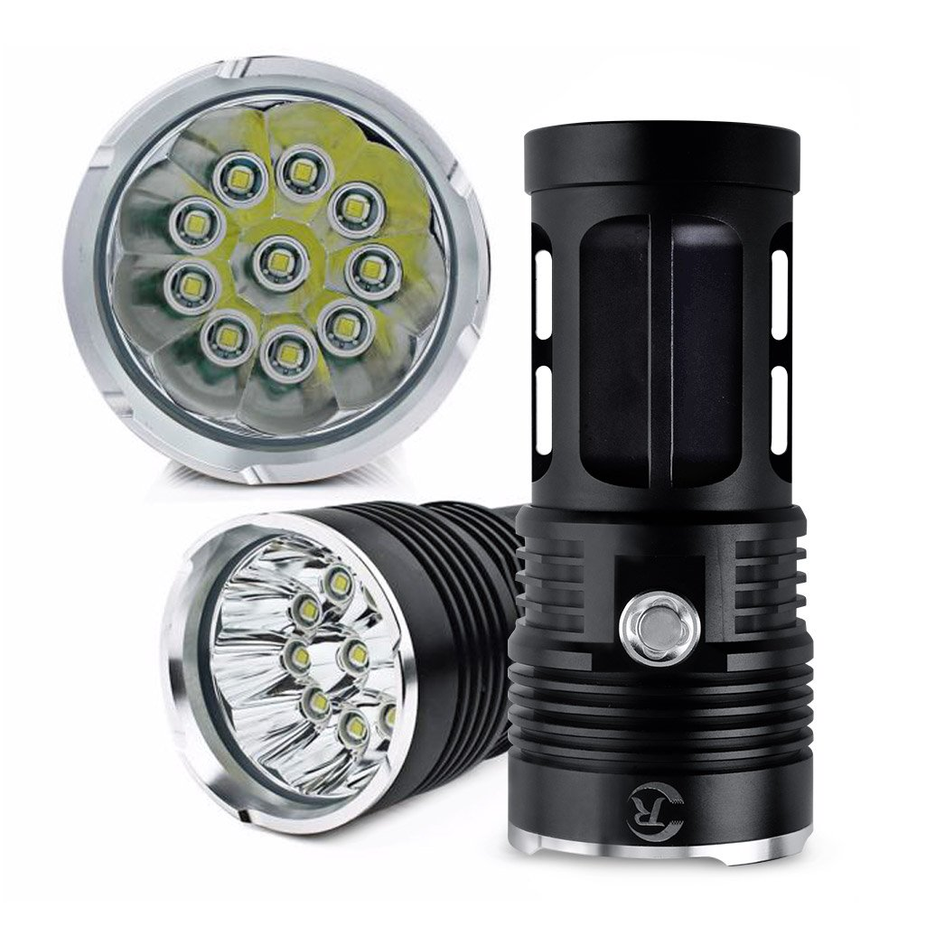 Hotkey 8000LM SKYRAY 10 x CREE XM-L T6 LED Flashlight Torch Powered By 4 x 18650 Hunting Lamp Perfect for Home and Outdoor