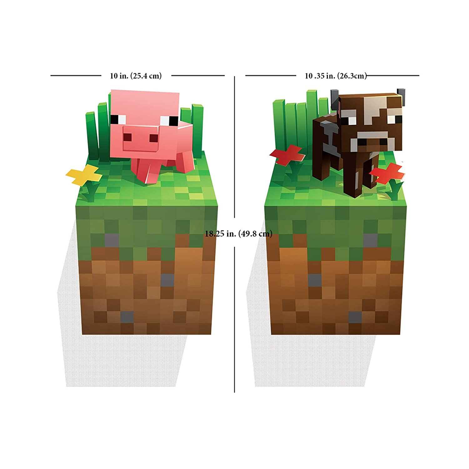 Superior Amazon.com: JINX Minecraft Creeper Inside Wall Cling Decal With Pig And Cow  (Set Of 3): Toys U0026 Games Part 23