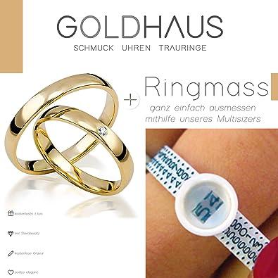 Eheringe Gold 333 Paarpreis Trauringe Gelbgold Hochglanz 8 Karat