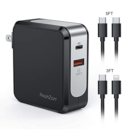 Amazon.com: PeohZarr - Cargador USB C de 48 W con dos cables ...