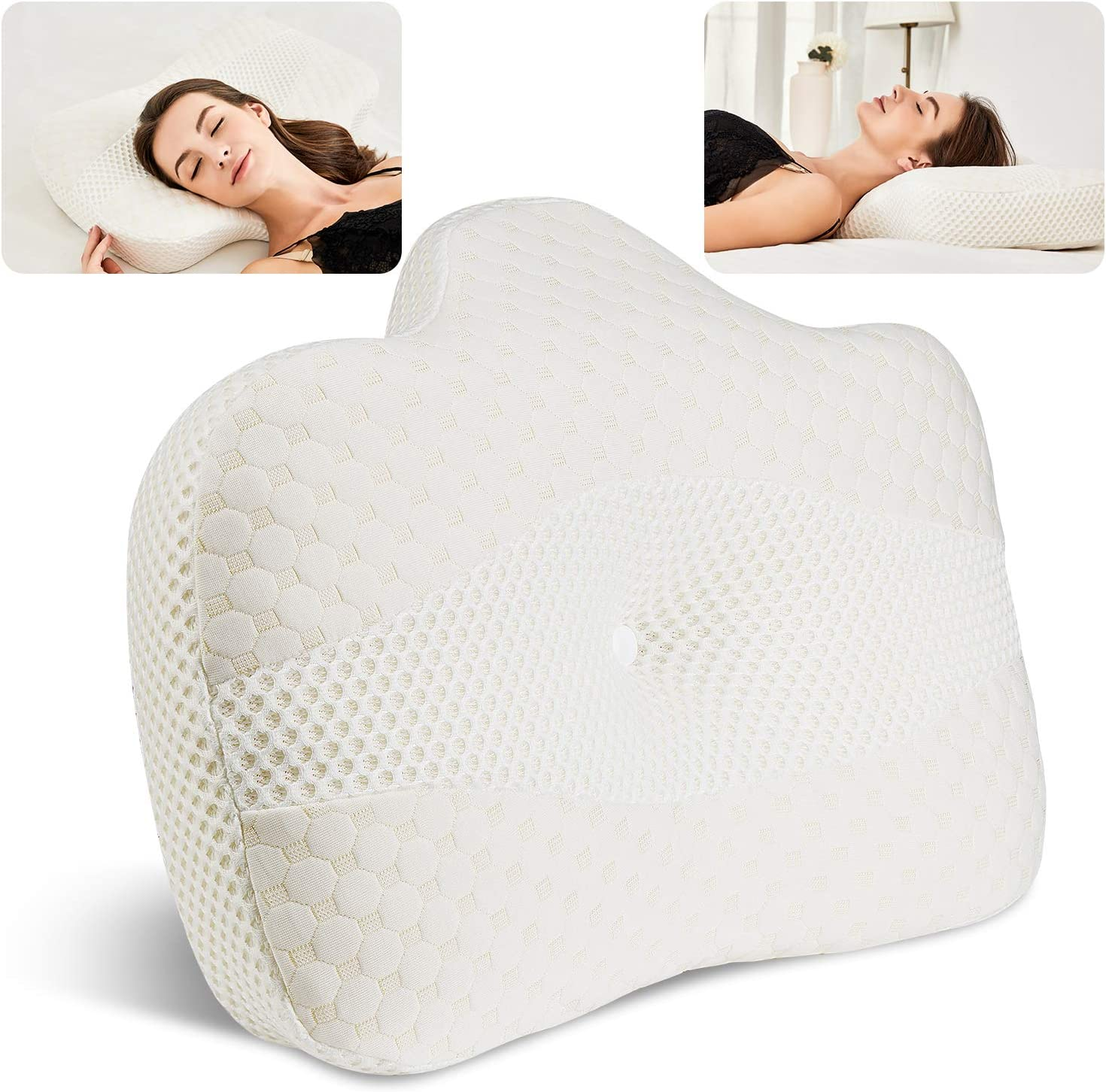 BEAUTRIP Memory Foam Cervical Pillow for Sleeping | Ergonomic Best Anti Snore Pillows for Neck Support and Shoulder Pain | Soft Contour Sleep Pillows | Bed Pillows for Back, Side and Stomach Sleepers