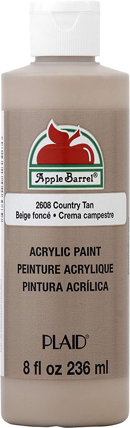 Apple Barrel Acrylic Paint in Assorted Colors (8 oz), K2608 Country Tan