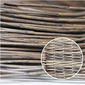 Wuweihome 32.8 ft(10m) Synthetic Circle Rattan Polyethylene Plastic Round Rattan Woven for Handmade Repair Fix Wicker Chair knit, Rattan Table Wicker Furniture, Basket Weaving, DIY Crafts, Dark Coffee