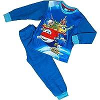 Bullahshah Super Wings Pyjama Sets, Unisex Kids Blue Soft Fleece Long Sleeves 2 Peice Pyjama for Boys and…