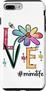 iPhone 7 Plus/8 Plus Love Mimi Life Daisy Flower Cute Funny Mother's Day Grandma Case