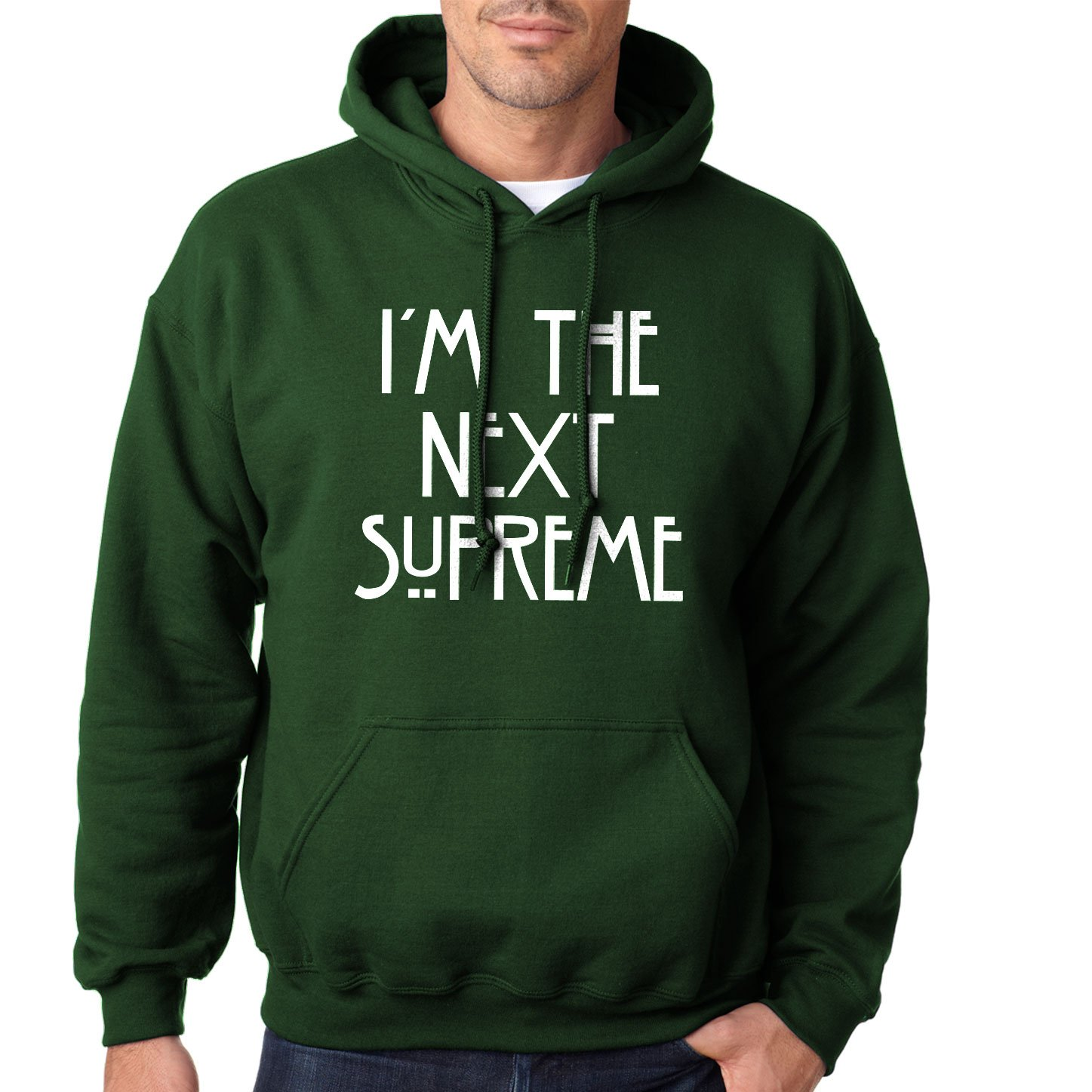 288be3f92ce2 Amazon.com  Hoodie I m the Next Supreme Adult Forest Green Medium  Books
