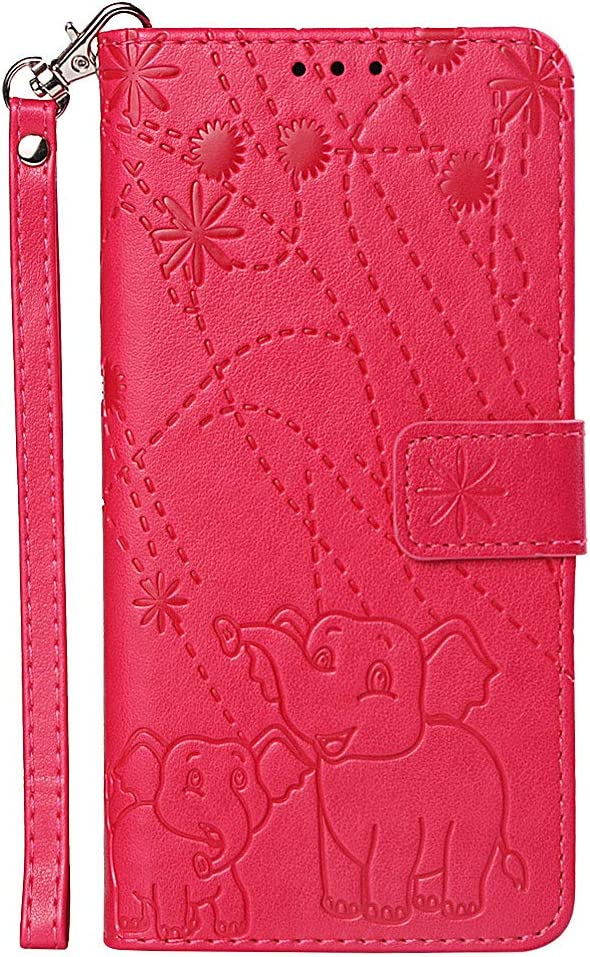Galaxy S9 Plus Folio Case SAVYOU Elephant Embossed Magnetic Flip PU Leather Wallet Cover Card Slots with Wrist Strap /& Kickstand for Samsung Galaxy S9 Plus