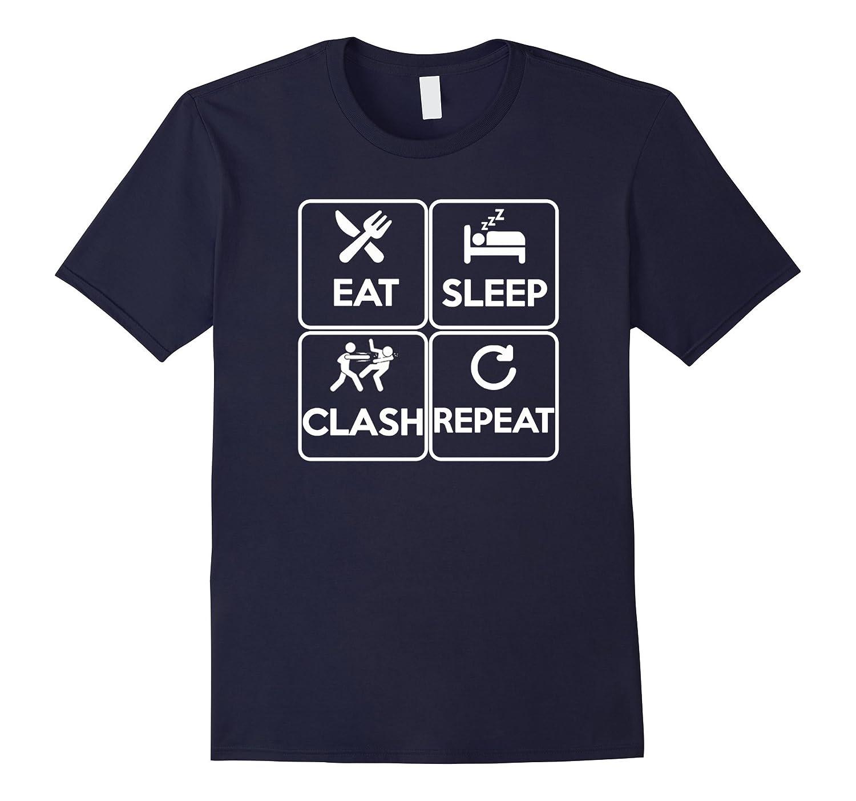EAT SLEEP CLASH REPEAT T-Shirt-PL