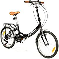 "Moma Bikes Vélo de Ville Pliant First Class 20"", Aluminium, SHIMANO 6V, Selle Comfort"