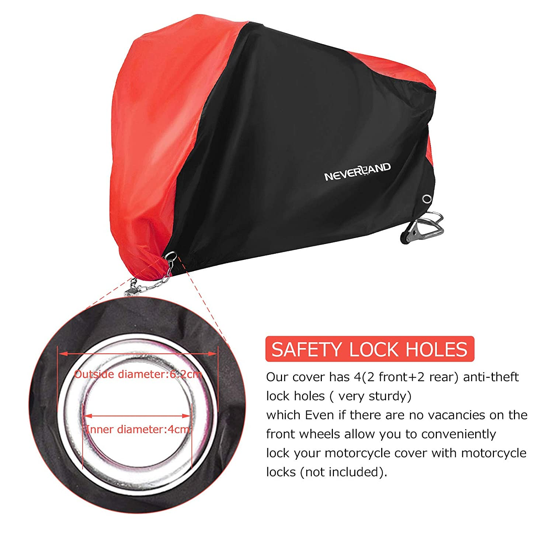 NOVSIGHT Housse de Protection pour Moto B/âche Scooter Taille L en Tissu 210D Oxfords Etanche Durable