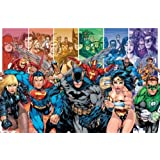 DC Comics Team Superheroes Collage 22x34 Poster Print Collections Poster Print, 34x22 Comic Poster Print, 34x22