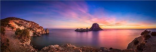Fine Art XXL Panorama Foto, España Ibiza Costa es Vedra Rocas en Modelos Sobre Lienzo, bajo, Cristal acrílico, LED Pared de Imagen y designersgroup, Lienzo, 180 x 60cm: Amazon.es: Juguetes y juegos