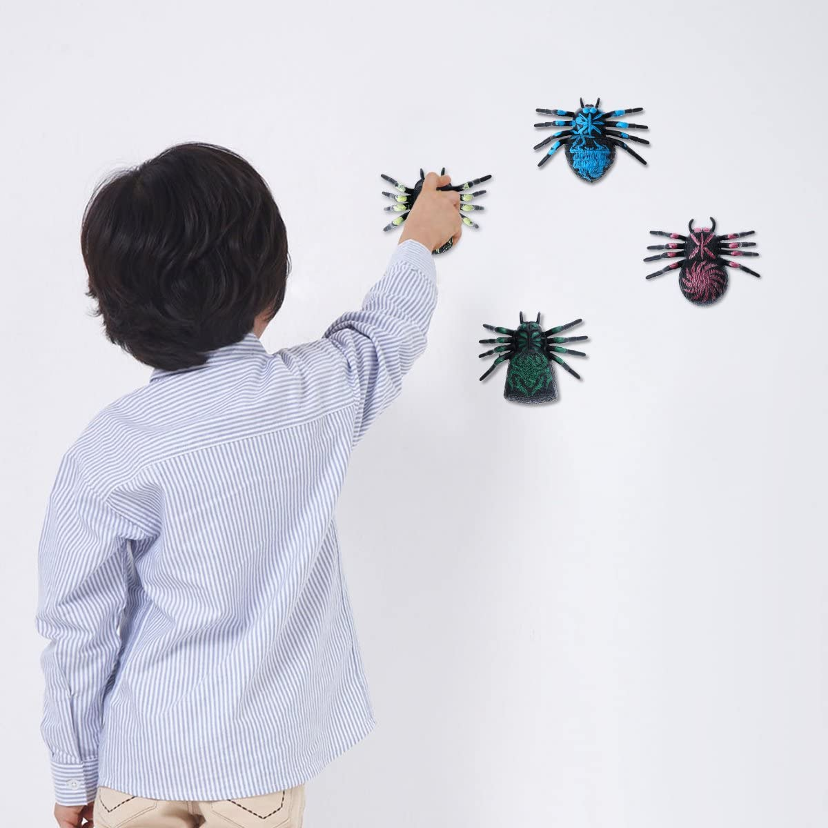 Mini Glitter Sticky Hands Toys and Sticky Spider Toys Set for Children Kids Party