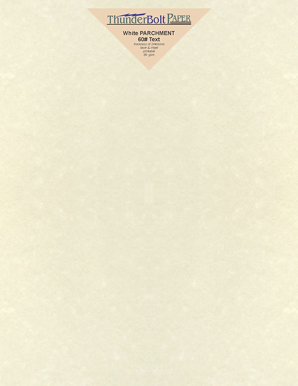 100 Soft White Parchment 60# Text (=24# Bond) Paper Sheets - 8 X 10 Inches Frame and Photo Size Size - 60 Pound is Not Card Weight - Vintage Colored Old Parchment Semblance TBP 4336882401