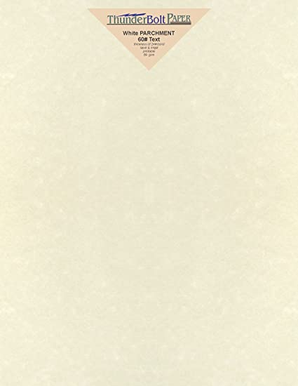 amazon com 50 white parchment 60lb text weight 8 5 x 11 inches
