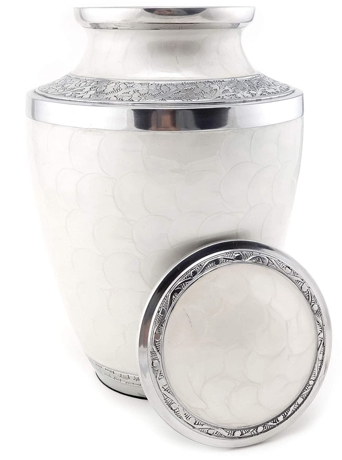 edenStar Cremation Urn with Unique Design – Adult Funeral Memorial Urn for Human Ashes Handmade Solid Handcrafted Engraved