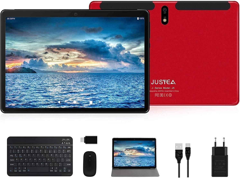 Tablet 10 Pulgadas Android 10.0 Tableta Ultra-Portátiles - RAM 4GB | 64GB Expandible (Certificación Google gsm) -JUSYEA - Batería de 8000mAh - WiFi ...